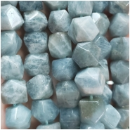 1 Aquamarine Faceted Nugget Bead (N) Approximate size 10.5 to 13.25mm