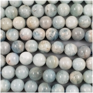 2 Aquamarine Round Gemstone Bead (N) Approximate size 14 to 14.9mm