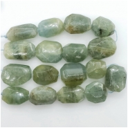 Aquamarine Faceted Nugget Gemstone Bead (N) Approximate size 17.29 to 24.14mm x 13.23 to 19.81mm, 7.5 to 7.75 inches