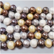 Pearl Fresh Water Oval Bead (D) Approximate size 8.85 to 10.78mm x 9.49 to 11.89mm, 16.25 inches