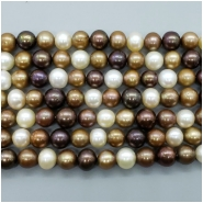 Pearl Fresh Water Near Round and Oval Beads (D) Approximate size 8.13 to 10.17mm x 8.46 to 10.74mm, 16 to 16.25 inches
