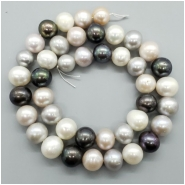 Pearl Fresh Water Near Round, Oval Beads (D) Approximate size 8.84 to 10.53mm x 8.94 to 11.06mm, 16 inches