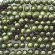 Pearls Freshwater Oval Big Hole Bead (D) Approximate size 7.09 to 7.86mm, 2 to 2.17mm hole, 16.25 to 16.5 inches