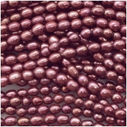 Pearls Freshwater Rice Big Hole Bead (D) Approximate size 6.04 to 7.81mm, 1.12 to 1.32mm hole, 16 inches