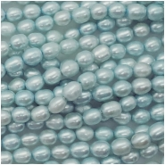 Pearls Freshwater Rice Big Hole Bead (D) Approximate size 6.24 to 7.41mm, 1.09 to 1.21mm hole, 16 inches