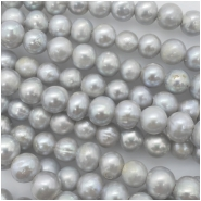 Pearls Freshwater Oval Big Hole Bead (D) Approximate size 7.53 to 9.06mm, 2.05 to 2.25mm hole, 8 inches