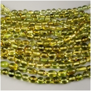 Green Amber Nugget Bead (H) Approximate size 6.5 to 11.7mm, 15.5 inches