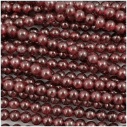 Garnet Round Gemstone Bead (N) Approximate size 4.75 to 4.88mm, 15.25 inches