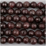 Garnet Micro Faceted Round Gemstone Bead (N) Approximate size 9 to 10.46mm, 7.75 inches