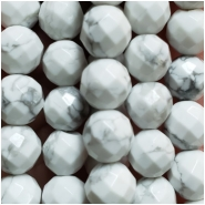 Howlite Faceted Round Gemstone Beads (N) Approximate size 7.66 to 8.28mm,  15.25 inches