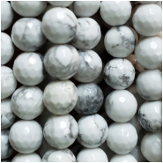 Howlite Micro Faceted Round Gemstone Beads (N) Approximate size 4.28 to 4.52mm,  15 inches