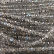 Labradorite Faceted Round Bead (N) Approximate size 2.5mm to 2.75mm, 13 inches