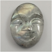 1 Labradorite Carved Moon Face Gemstone Cabochon (N) Approximate size 20.07 x 15.14 x 5.51mm