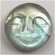 1 Labradorite Carved Moon Face Gemstone Cabochon (N) Approximate size 18.99 x 6.24mm
