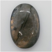 1 Labradorite Oval Cabochon Gemstone (N) Approximate size 36.99 x 24.83 x 8.45mm