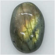 1 Labradorite Oval Cabochon Gemstone (N) Approximate size 25.70 x 17.72 x 8.12mm