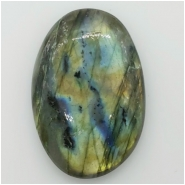 1 Labradorite Oval Cabochon Gemstone (N) Approximate size 48.20 x 34.35 x 13.10mm