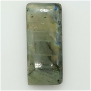 1 Labradorite Rectangle Cabochon Gemstone (N) Approximate size 49.75 x 24.65 x 12.89mm