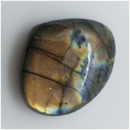 1 Labradorite Teardrop Cabochon Gemstone (N) Approximate size 38.22 x 31.20mm