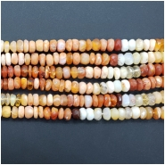 Mexican Fire Opal Faceted Rondelle Gemstone Beads (N) Approximate size 5.1 to 5.65mm x 2.01 to 3.77mm, 7.5 inches