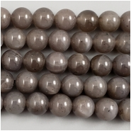 Moonstone Gray Round Gemstone Beads (N) Approximate size 6 to 6.2mm, 8 inches