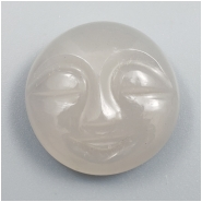 1 Moonstone Carved Moon Face Cabochon Gemstone (N) Approximate size 18.50 x 7.04mm