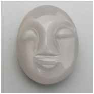 1 Moonstone Carved Moon Face Cabochon Gemstone (N) Approximate size 18.96 x 14.93 x 7mm