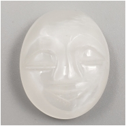 1 Moonstone Carved Moon Face Cabochon Gemstone (N) Approximate size 17.78 x 14.01 x 5.67mm