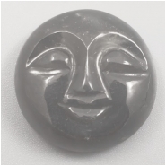 1 Moonstone Carved Moon Face Cabochon Gemstone (N) Approximate size 18.25 x 6.79mm
