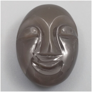1 Moonstone Carved Moon Face Cabochon Gemstone (N) Approximate size 23.03 x 17.37 x 9.39mm
