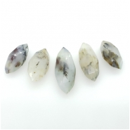 5 Peruvian Opal Faceted Marquis Cut Briolette Gemstone Beads (N) Approximate size 17.93 to 23.96mm