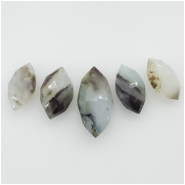 5 Peruvian Opal Faceted Marquis Cut Briolette Gemstone Beads (N) Approximate size 16.37 to 23.47mm