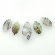 5 Peruvian Opal Faceted Marquis Cut Briolette Gemstone Beads (N) Approximate size 16.35 to 23.06mm