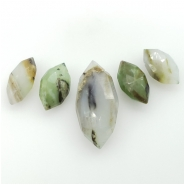 5 Peruvian Opal Faceted Marquis Cut Briolette Gemstone Beads (N) Approximate size 16.22 to 28.74mm