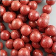Sponge Coral Red Round Bead (S,D) Approximate size 15.5 to 16.5mm, 16 inches