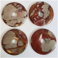 1 Noreena Jasper Donut Gemstone (N) Approximate size 49.77 to 50.47mm