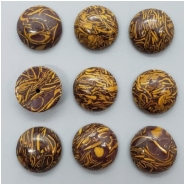 4 Elephant Skin Jasper Round Cabochon Gemstone (N) 12.10 to 12.50mm