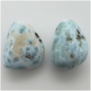 1 Larimar Pendant Top Drilled Large Hole Gemstone Bead (N) Approximate size 16.32 x 23.39mm to 18.72 x 21.95mm