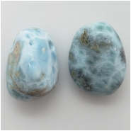 1 Larimar Pendant Top Drilled Large Hole Gemstone Bead (N) Approximate size 18.04 x 24.28mm to 19.37 x 25.11mm