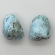 1 Larimar Pendant Top Drilled Large Hole Gemstone Bead (N) Approximate size 21 x 27mm to 21.43 x 25.37mm