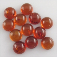 4 Amber Baltic round dark honey cabochon gemstones loose cut (N,H) Approximate size 10mm