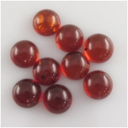 4 Amber Baltic round red orange cabochon gemstones loose cut (N,H) Approximate size 10mm