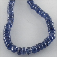 Sapphire blue rondelle gemstone beads (H) Approximate size 3.8 to 4.4mm 13.5 inch