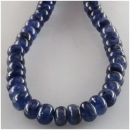 Sapphire blue rondelle gemstone beads (H) Approximate size 4.5 to 5.5mm 13.5 inch
