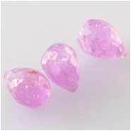 3 Tourmaline pink faceted tear drop briolette gemstone beads (N) Approximate size 3.5 x 5.2mm to 3.8 x 5.7mm