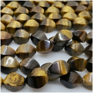 Tiger Eye Faceted Rectangle Gemstone Beads (N) Approximate size 7.82 x 12.13mm to 8.63 x 12.79mm 15.75 inches