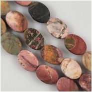 Red Creek Jasper Matte Oval Gemstone Beads (N) Approximate size 10 x 14mm 7.75 inches