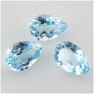 1 Sky Blue Topaz faceted pear tear drop loose cut gemstone (I) Approximate size 8 x 12mm