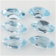 5 Sky Blue Topaz faceted marquise loose cut gemstones (I) Approximate size 3 x 6mm