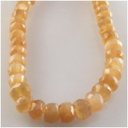 Moonstone peach AAA faceted rondelle gemstone beads (N) Approximate size 4.2 to 4.9mm 14 inch